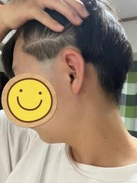 高校がツーブロ禁止です。 この刈り上げたとこに髪が被る感じです。 こういった髪型はツーブロに入りますか?