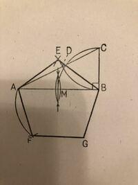 数学が得意な方、このやりかたで正五角形を書く方法を教えてください。