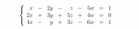 線形代数学 連立一次方程式 についてです。 計算過程も教えてほしいです。 お願いします!