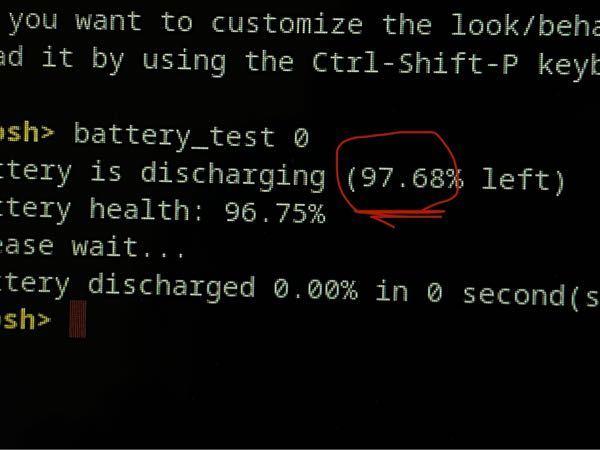 Chromebookについての質問です 私は学校でChromebookを使用しているのですがこの間授業中にまだ50パーセントもあったのに突然1パーセントになりました なのでおかしいと思い色々調べてみたのですが 充電を100%にして数分間放置してから調べてみた結果パソコンには残量100%と表示されているのに実際は97%でした ⤴︎ ⤴︎⤴︎⤴︎ ⤴︎⤴︎ これって異常ですか?