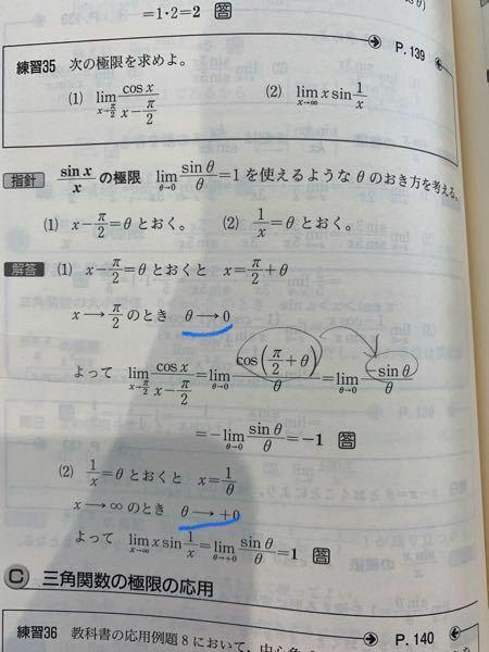 数III 極限 θ→ が0になる時と、+0になる時の違いってなんですか?