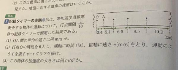 (2)のv-tグラフってどんな感じで書くのですか? 出来ればグラフを書いて下さると嬉しいです 至急お願いします