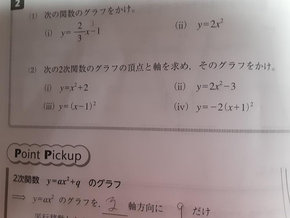 高校数学 (iii)はx軸方向に1進んで、(iiii)は−1進みます。数字は同じなのに進む方向が違うのは何故ですか?
