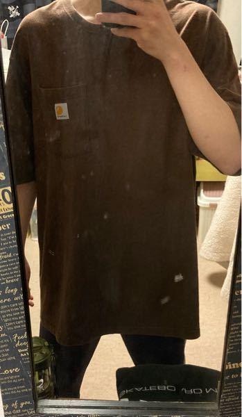 CarharttのXLのTシャツを買ったんですが、袖丈などはちょうどいいと思うんですが、着丈?が思ったより長いと思うんです。 変じゃないならいいのですが、変だったら短くしようと思ってます。どう思いますか?