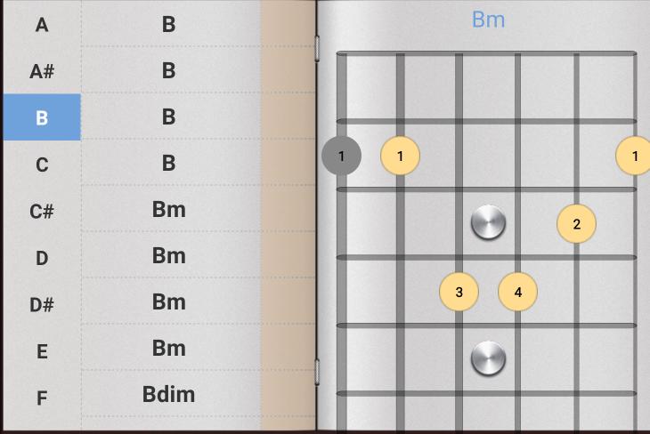 ギターのコードに Bが沢山あったりBmが沢山あったりするのですが、これ何の違いですか?