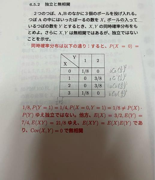 急ぎです。 確率統計についての質問です。同時確率分布を求める問題で、Y(X=1)=1/4、E(Y)が7/4になる理由が分かりません。よろしくお願いします。