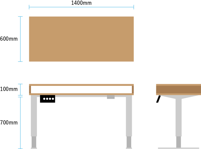 PCデスクのDIYについて質問です。 ビバホームの「無垢ボード」(スギの集成材)×2 電動昇降スタンディングデスクEF1脚フレーム 上記の材料を使用し、 https://www.pintere...