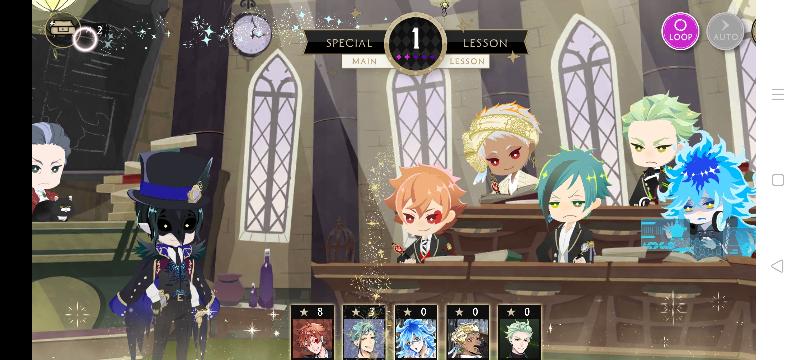 ツイステで授業の際に左上に表示される箱のようなものと、各キャラクターに溜まっていく星は何を示しているのですか?