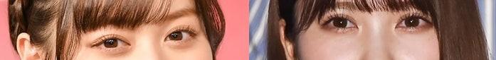 坂道パーツクイズ其の344 画像の現役または元坂道メンバーは 左右それぞれ、誰と誰でしょう?