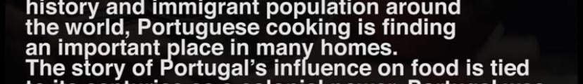高校英語 画像二行目のPortuguese cookingからin many homesまでの文が意味が分かりません。教えていただきたいです