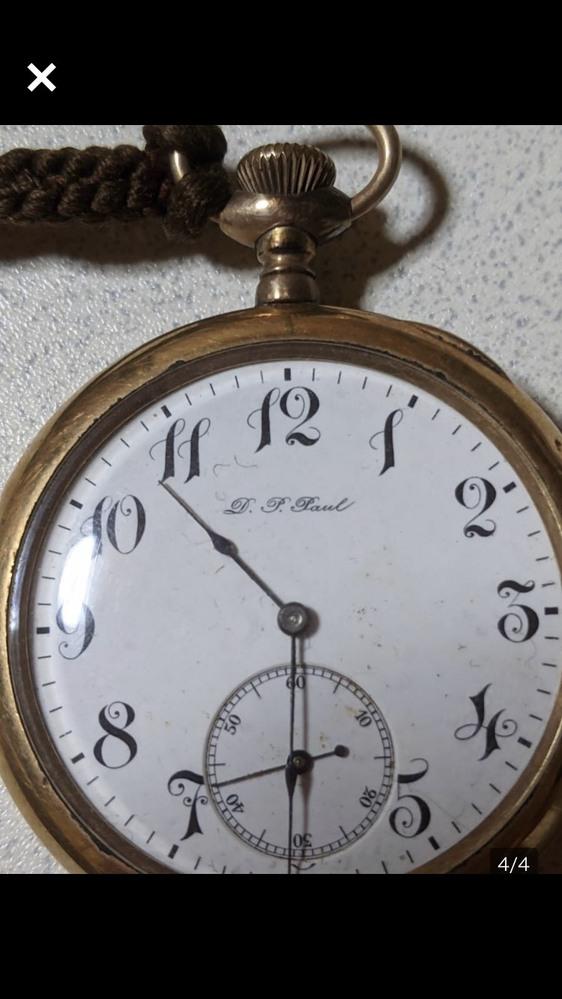 懐中時計の詳細が知りたいのですが、メーカー年代等判る方いませんか?