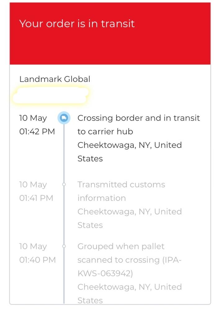 国際郵便の追跡についてです。 こちらの画像を見て、現在の配達状況がわかる方がいましたら是非教えてください。 もうすぐ日本には届くのでしょうか?