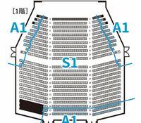 劇団四季の座席からの見え方について質問です。  小学生の子供連れでアナ雪を観に行きたいと思っています。 四季劇場[春]の A1の1階の前方左右にするか、S2の2階にするか迷っています。  A1の1階前方左右は見切れる箇所等あるでしょうか。  どちらがおすすめか、またおすすめの理由も教えてください。