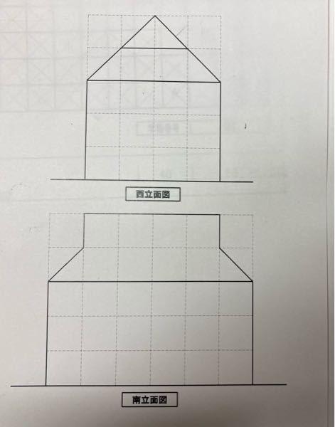 この立面図から建物を書いてください イメージができないので書けないです