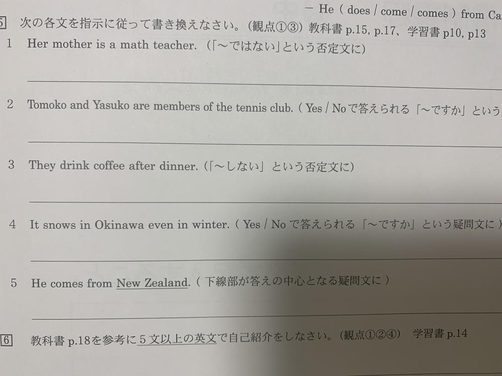 指示に従って書き換えなさい、という問題です よろしくお願いしますm(_ _)m
