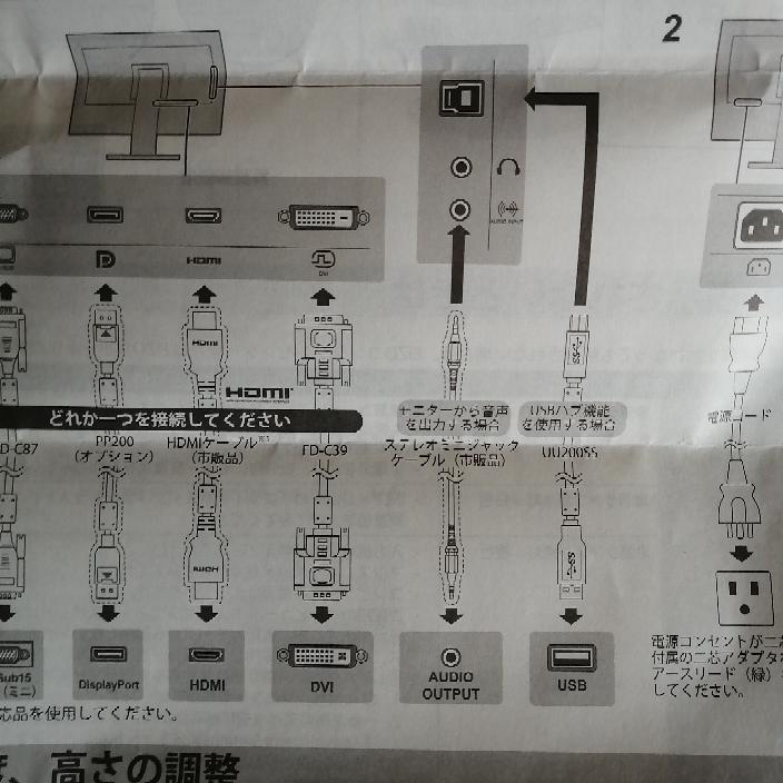モニターから延びているUSBケーブルはどういう用途で利用するのでしょうか。