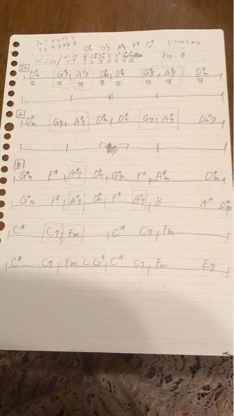 この曲はシャープの数でkeyBだと思うのですが、そうなると四角で囲んでるところの説明がつきません きっとドミナントモーションとかかなとは思うのですが、知識不足でわかりません keyBであってるのか、四角の部分の解説、付け加えるべき分析点がありましたらお願いします