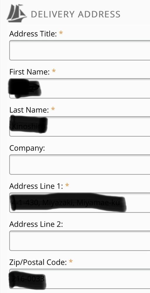 海外通販サイトを使用したいのですがadress titleとは何を書けばば良いのでしょうか? 画像の通り住所を書く欄は別にあります