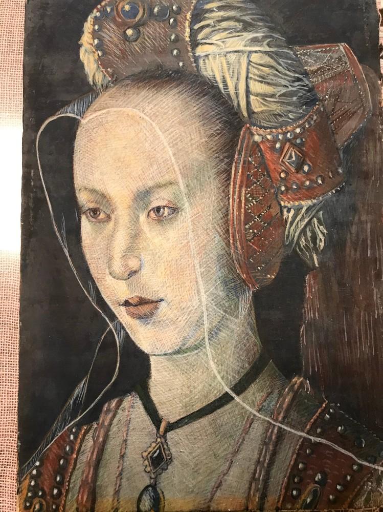 祖母が模写した絵なのですが こちらの絵の作者と絵の題名が分からず困っております。 どなたかわかる方いませんか?