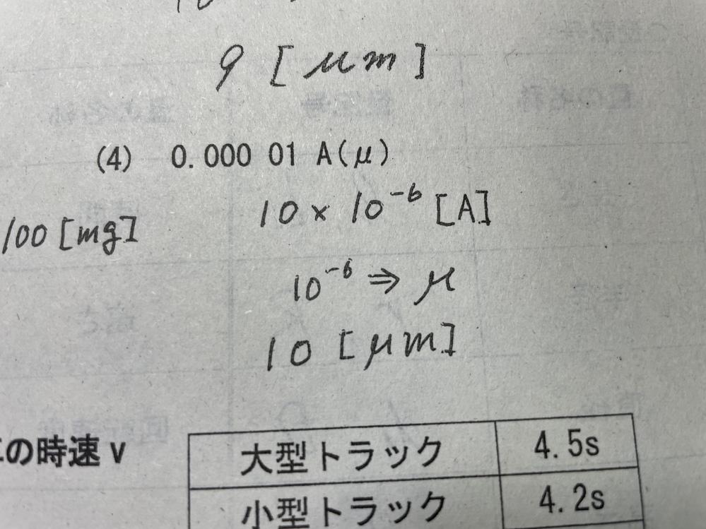 こちら工業数理の接頭語の問題なのですが、 「A」が「m」に変換されているのですがなぜでしょうか?