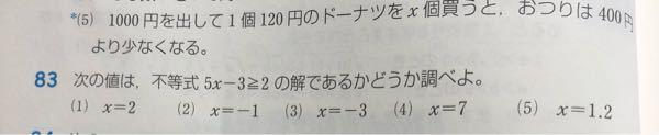 83の(1)〜(4)の解き方と答えを教えてください!