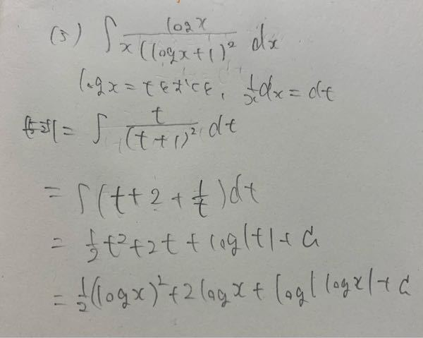 数学IIIの積分なのですが、どこが違うのか教えていただけないでしょうか?