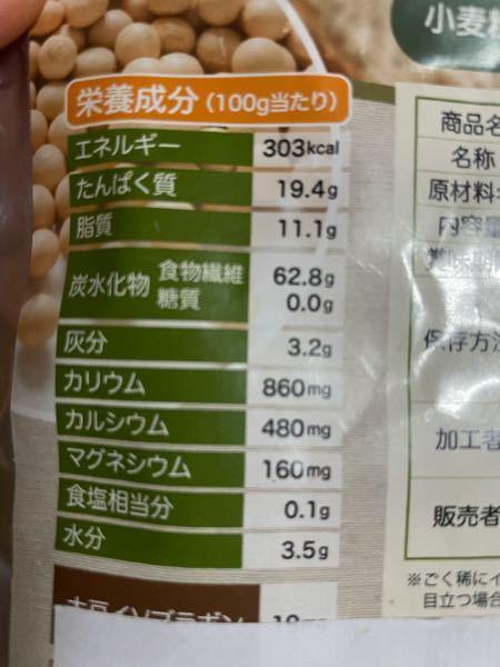 おからパウダーの栄養成分表なんですけどこれってカロリー高すぎませんか? 食物繊維は0カロリーじゃないんですか?