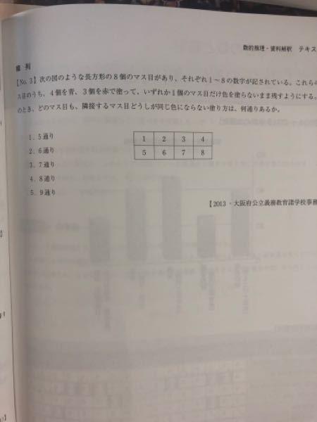 数的推理の順列の問題です。 わかる方回答お願いしますm(_ _)m