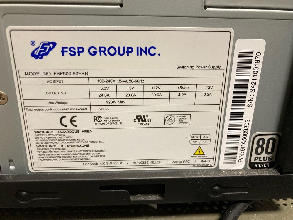 動画編集(プレミアプロ)を目的でグラフィックボードの1660 SUPERをパソコンショップで中古で47000円(税込)で購入をしようと思っていま す。 ただ、今のパソコンが数年前のパソコンなので、いっその事、パソコンごと新品を購入した方がいいのか迷っています。 CPUは Intel Core i7-4790 電源は写真でアップします アドバイスを頂けますでしょうか?よろしくお願いします。