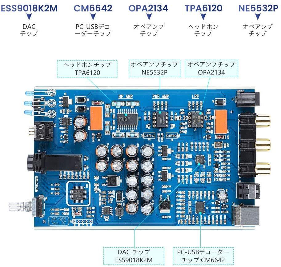 AIYIMAのアンプ内蔵USB-DAC DAC-A5 PROをイヤホンにつなげて使っているのですが、オペアンプの交換に挑戦してみたくなりました。 そこで質問なのですが、 ・PREAMPやLPFと基盤に表記のある箇所のオペアンプの交換はヘッドホン出力に影響があるのでしょうか ・これら2つのオペアンプは同じものに交換するものなのでしょうか 商品のURLを記載しておきます https://www.amazon.co.jp/dp/B08GK6M4ZR/ref=cm_sw_r_tw_dp_6SARRAT0VFWSB6T93YFB