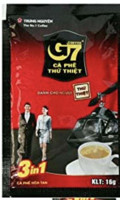 ベトナムインスタントコーヒーG7を飲んだ事のある方いますか? 日本人でも飲みやすいでしょうか? 例えばカフェならブレンディといった様に、CMで流れる名の知れた飲み物しか今迄口にした事がなく、ベトナムは始めてで、躊躇しています。 躊躇している理由が、海外生活や旅行経験が無く、現地のパッケージの飲食を口にした事が無いのもあると思います。衛生面もどうなのかな…と日本みたいに徹底していなさそうなイメージです。 人からコーヒーカップ一杯分を戴いたのですが、飲めずにいます。