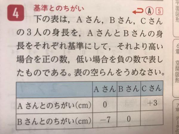 中1数学です。教えてください。 よろしくお願いします。