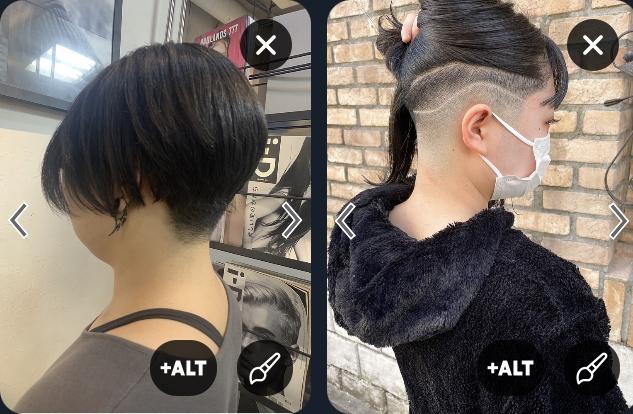 女ですが刈り上げヘアをやろうと思っています。 刈り上げを調べていたのですが、だいたい画像2つみたいな髪型が出てきます。両方とも刈り上げなんでしょうか??