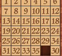 ナンバーパズル 34がうまくはまりません、 どうすればいいですか 6×6