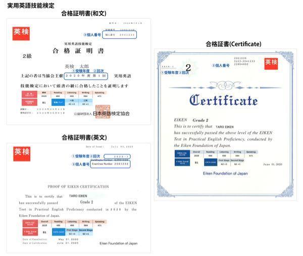 【英検について】 英検に合格したのですが、合格証書と合格証明書を無くしてしまいました。 合格証明書は再発行できたのですが、合格証書は出来なくて、、、 合格証書はなかったら困りますか? 合格証書は写真の右側です!