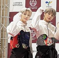 韓国のアイドルグループのBLITZERSというグループなのですが左の子の名前なんといいますか?
