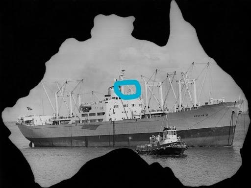 この船(Holtheim)のまるでかこんだものはなんでしょう❓