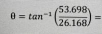 関数電卓です この式を関数電卓でライン表示で入力するにはどう打てばいいですか? 正しい答えは64.019°になるはずなのですが、私は何度やっても35.830321と、訳の分からない数字が出てきます ほんとに困ってるので誰か教えていただけませんか?