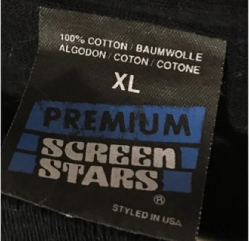ビンテージTシャツで SCREEN STARSタグが有りますが そのうち黒地の青文字でpremiumと書かれたタグがありますがこちらは90年第後期の物でしょうか?
