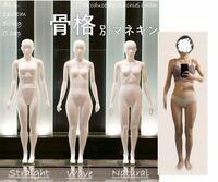 骨格について。 自分の骨格がわかりません。  おそらく上半身は骨格ナチュラルかなと思うのですが、下半身がどの骨格なのかわからないです。  参考に骨格マネキンの画像に自分を並ばせて見たので、見た感じどの骨格なのかわかれば教えていただきたいです。  (お見苦しい写真失礼いたします。)  身長は159センチ、体重は42キロです。  マネキンの身長は160センチ、体重50キロです。  体重に割と大き...