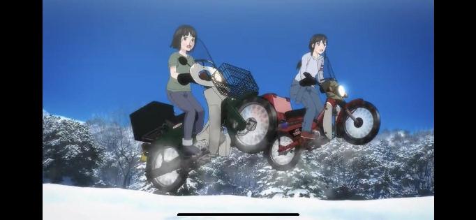 アニメ・スーパーカブで二人乗りのみならず、ノーヘルで危険運転してましたが、放送を禁止しろって思い