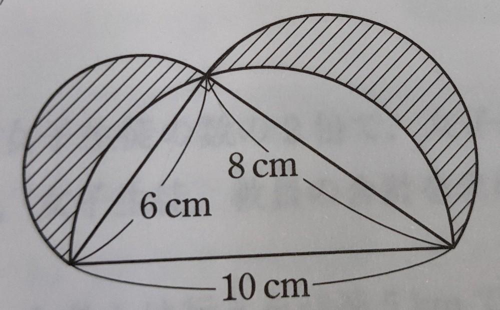 この図形の求め方が分かりません。中1数学文字と式です。答えが24 平方cmなんですけど、そうなる理由が全く分かりません。 分かる方お願いします。