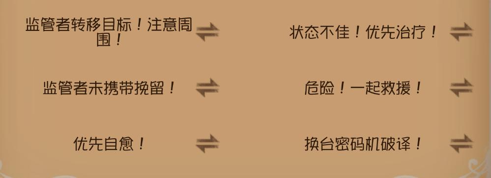 中国版第五人格のチャットを調べていたのですが、これらがわかりません 意味のわかる方お願いします!