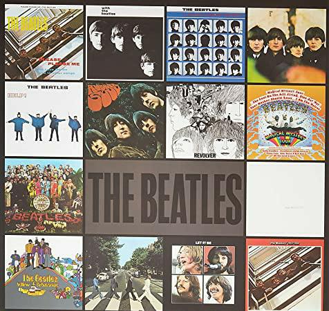 ビートルズの添付写真のアルバムから聴きたい曲を1曲ずつ選ぶとしたらどのようになりますか? 日によって変わると思いますが、現時点で思った曲を教えてください (赤盤は除く)