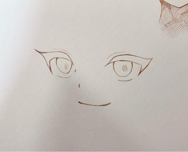 この絵のアドバイスください! 後、輪郭描いてくれませんか? お手本見せて欲しいです…… 輪郭描くのが苦手で…
