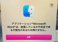 MacBookでWordを開こうとすると以下のように表示されてしまいます。 治し方や対処法知っている方教えてください