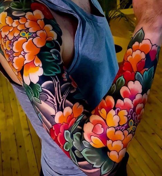 大阪市でこんな感じのタトゥー掘ってくれるところありますかね?? 色々探したんですがなかなか見当たらないので、知ってる方居たら教えて欲しいです