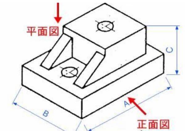 丁度真ん中で切った時(文字Bがあるところで切る)正面図の全断面図が知りたいです。 分かる方、お力添えください。