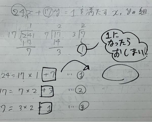 この問題の解き方がわかりません。 書いてあるところまでは行くのですが、そのあとはどうすればいいですか。