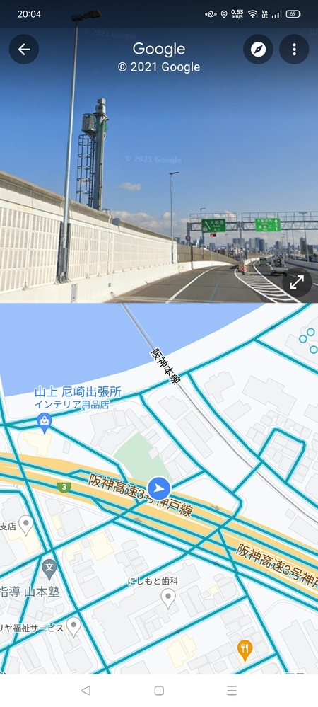 阪神高速3号神戸線を東進中に、大和田ICで降りる直前に左側に画像のようなカメラを見つけましたが、これはオービスなんですか? ヤフーカーナビにはこの地点でオービスのアイコンが出てましたもので。